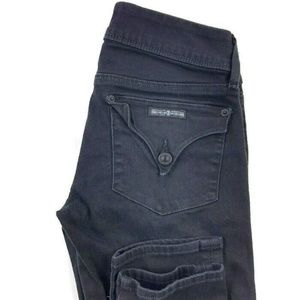 Hudson Black Collin Skinny Jeans